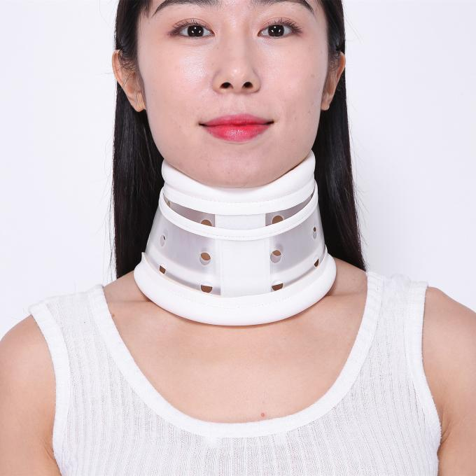 Medical Plastic Neck Support Collar White / Skin Color For Neck Pain Relief