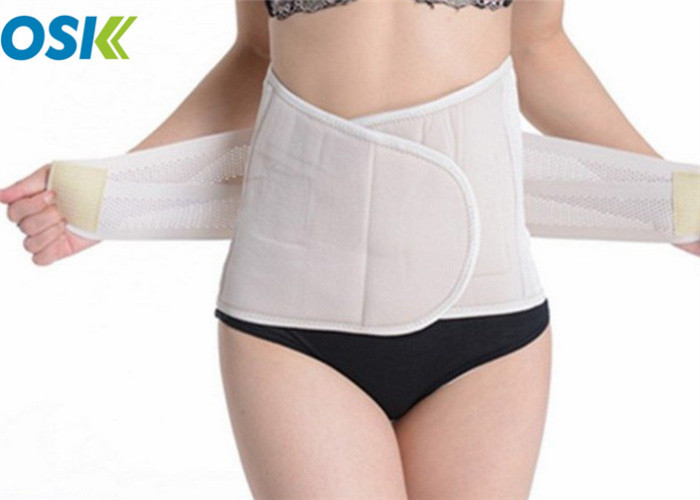 White Maternity Support Belt Strong Sewed Thread Eco - Friendly Lightweight