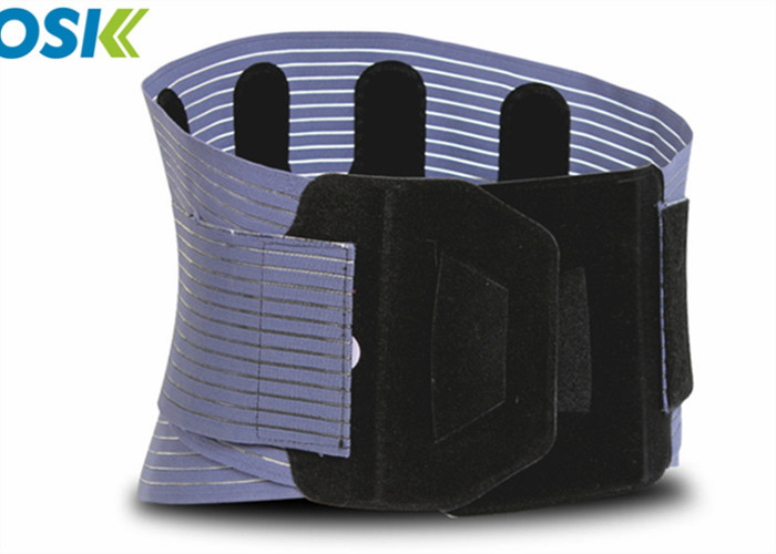 Neoprene Waist Support Brace Black / Blue Breathable Customized Logo