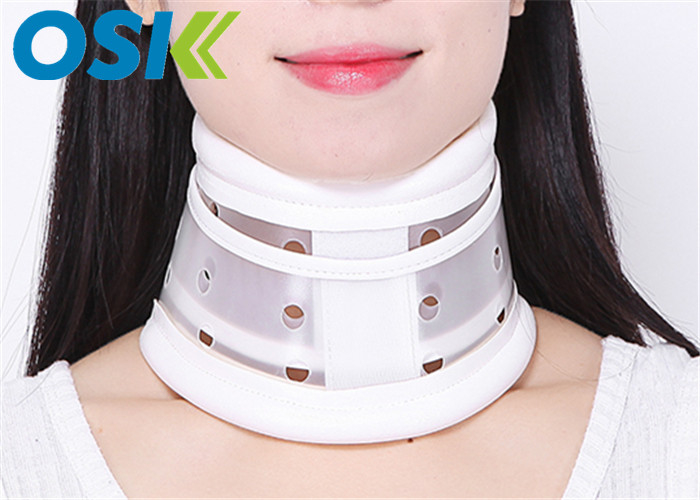 Plastic Neck Injury Collar , Cervical Neck Brace Long - Term Usage CE Approved