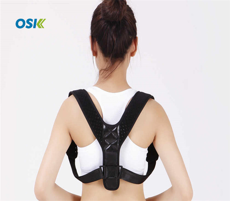 Black Shoulder Posture Support Brace Adjustable Lightweight Breathable
