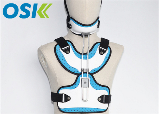 Adjustable Medical Orthosis Orthopedic Neck Brace White / Blue CE Certification